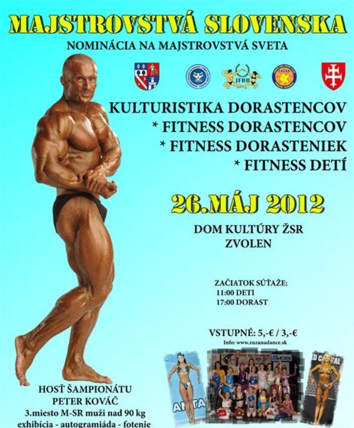 Pozvanka - MSR 2012 v kulturistike a fitness dorastencov a fitness detí