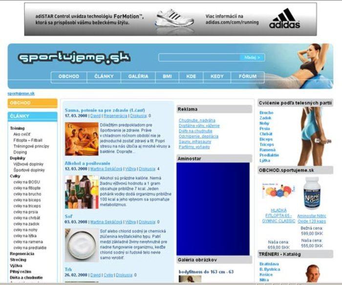 reklama na Športujeme.sk