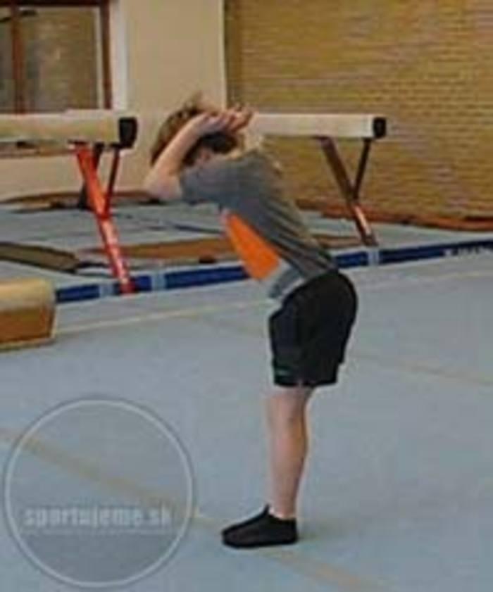kotúľ vzad gymnastika